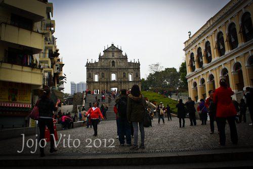 Ruins of St. Paul, famous Landamark in Macau