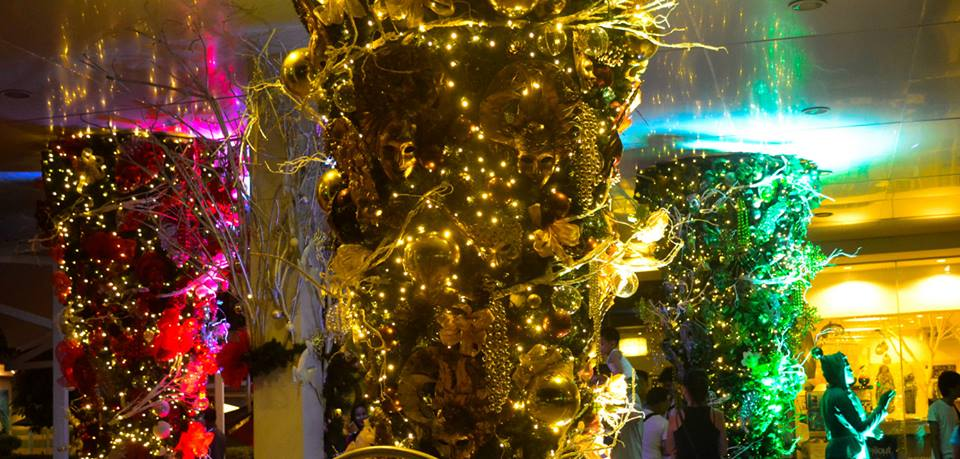 Central City Walk's ChristMASK Trees