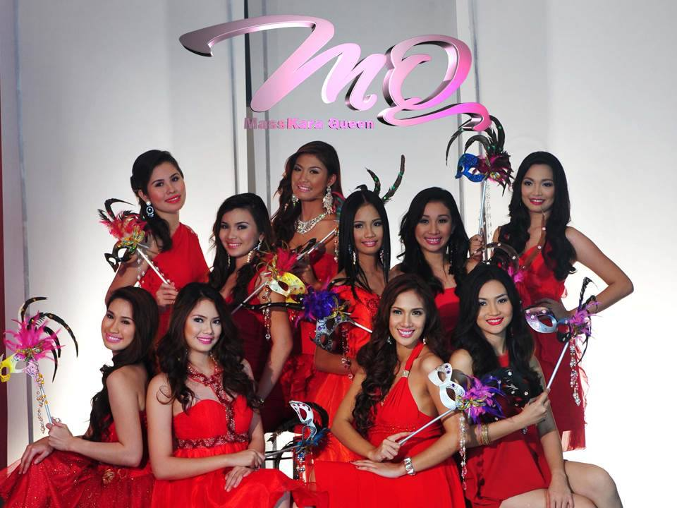 The 2013 Masskara Queen Candidates with Jojo Vito Designs Gallery Masks