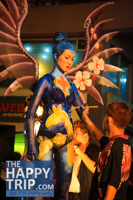MASSKARA BODY PAINTING   @ METRODOME