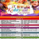 KADAYAWAN SA DABAW 2016 SCHEDULE OF ACTIVITIES